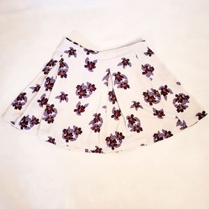 Free People Floral, Pleated Skater Skirt, Sz 12